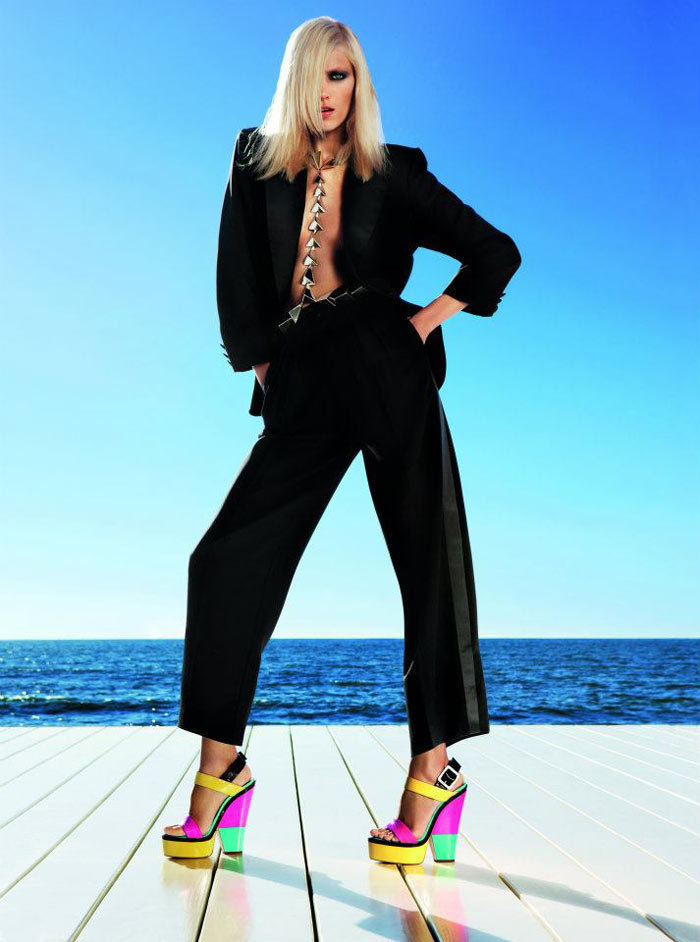 Anja Rubik for Giuseppe Zanotti Spring '12. Source: Fashion Gone Rogue