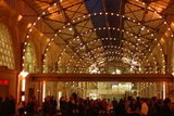 The lighting inside the Ferry Building was romantic and intimate. It made the evening feel very special.