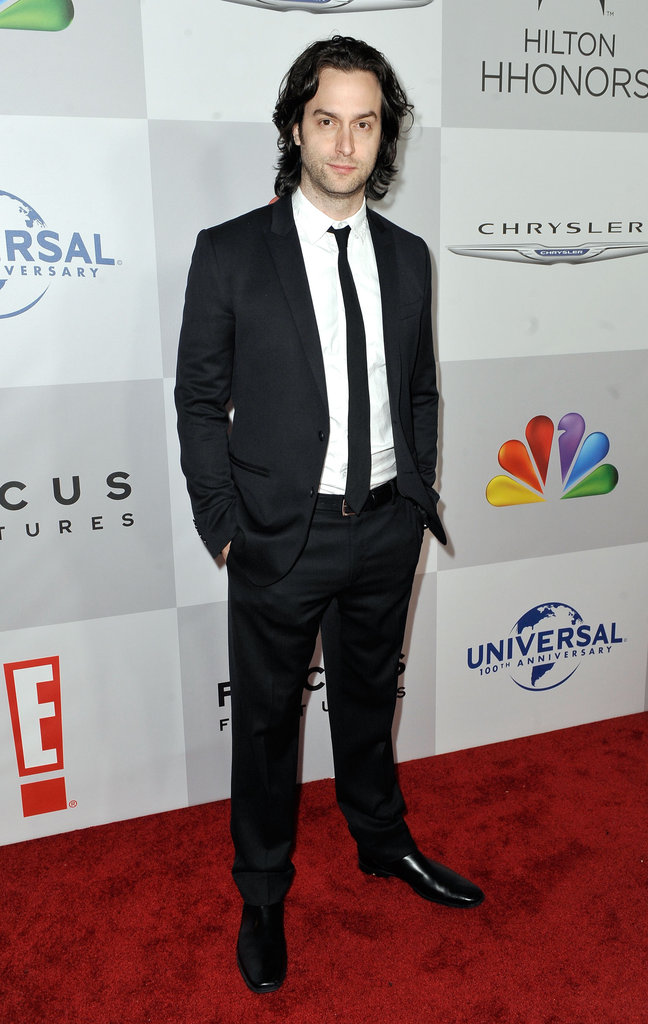 Chris D'Elia posed on the NBC post-Golden Globes party red carpet.