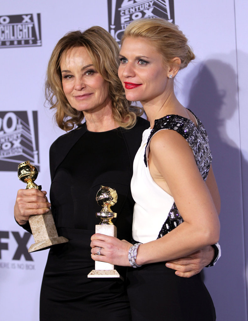 Jessica Lange and Claire Danes said hello at the Fox afterparty.
