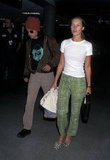 Kate Moss and Johnny Depp were a stylish pair on the go in July 1996 at LAX.