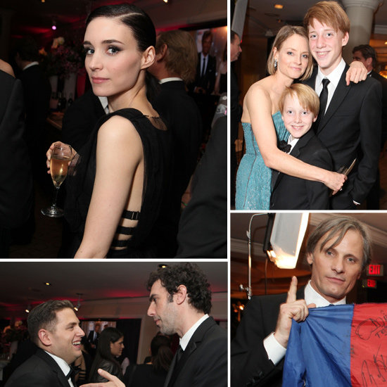 Rooney Mara Toasts Sony's Golden Globe Nominations With Sacha, Jodie and Jonah
