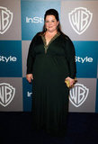 Melissa McCarthy in Badgley Mischka.