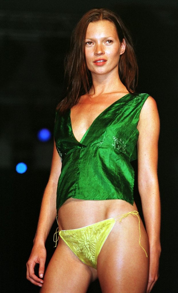 Work brought Kate to Sao Paulo for the city's Fashion Week in July 1999.