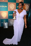 Octavia Spencer posed with her Golden Globe honor.
