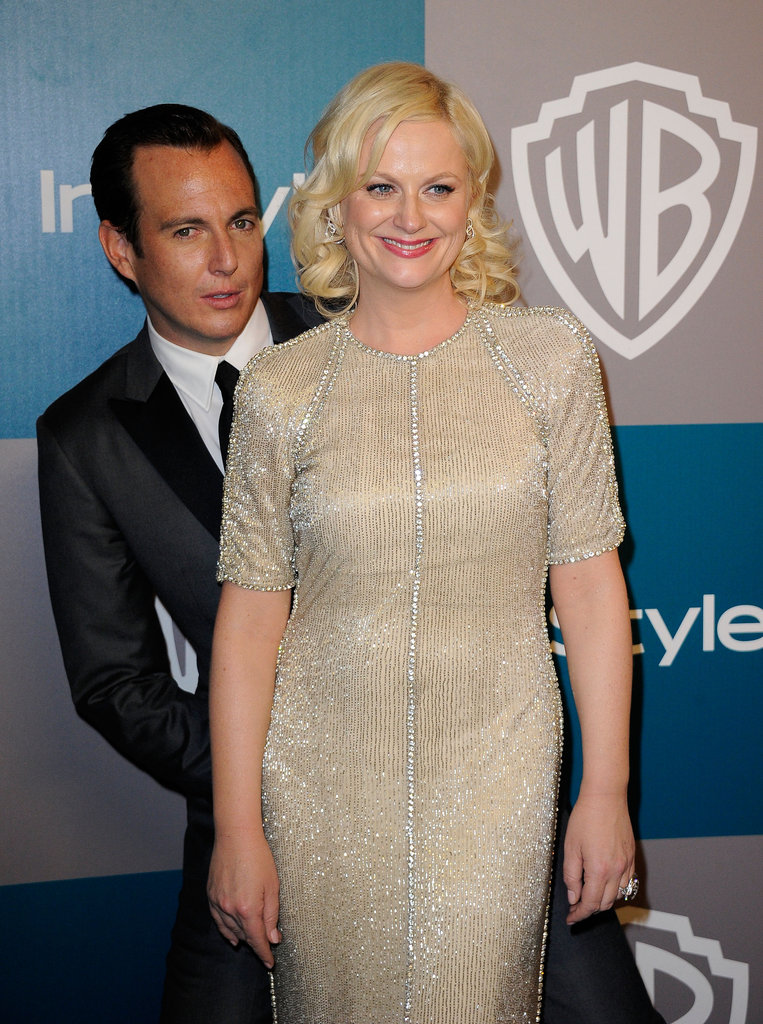 Amy Poehler and Will Arnett at InStyle's Golden Globes afterparty.