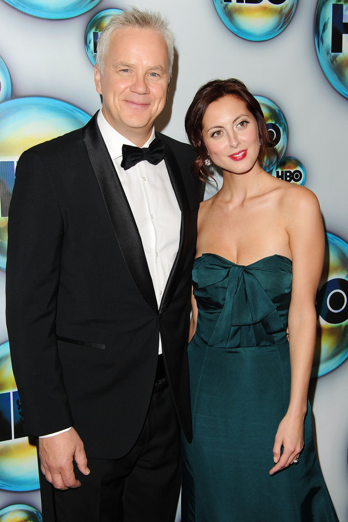 Tim Robbins and Eva Amurri Martino attended HBO's post-Golden Globes bash.