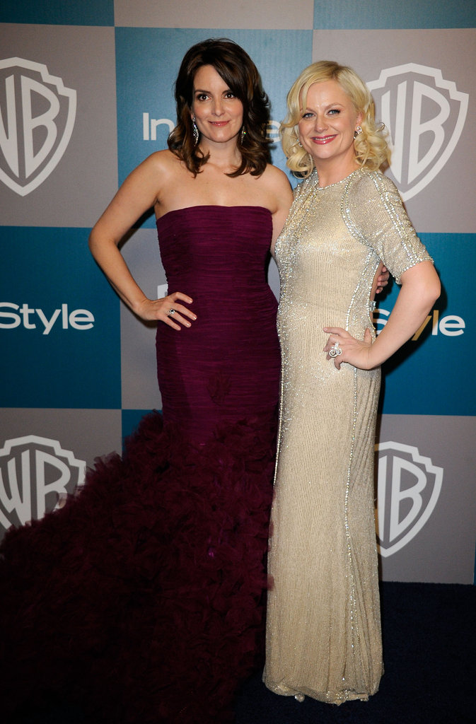 Tina Fey and Amy Poehler hung out at InStyle's Golden Globes afterparty.