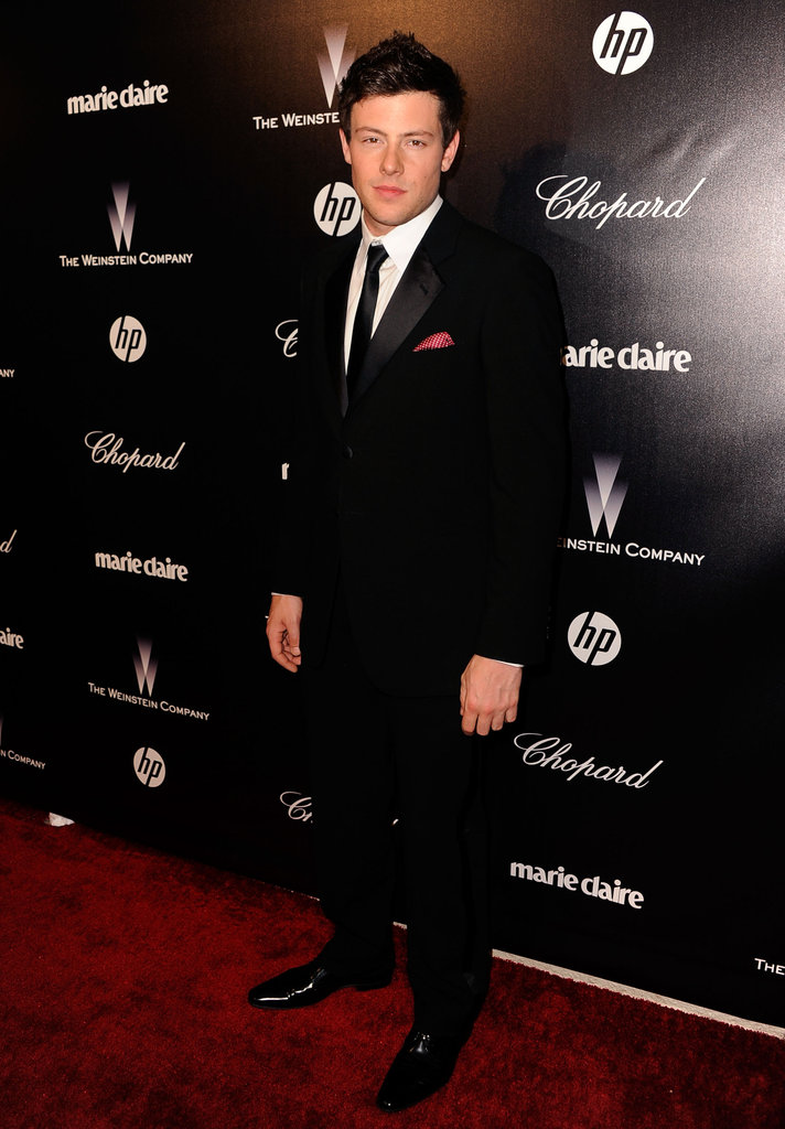 Cory Monteith party hopped to the Weinstein Company's Golden Globes party.