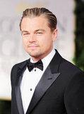 Leonardo DiCaprio at the Golden Globes.