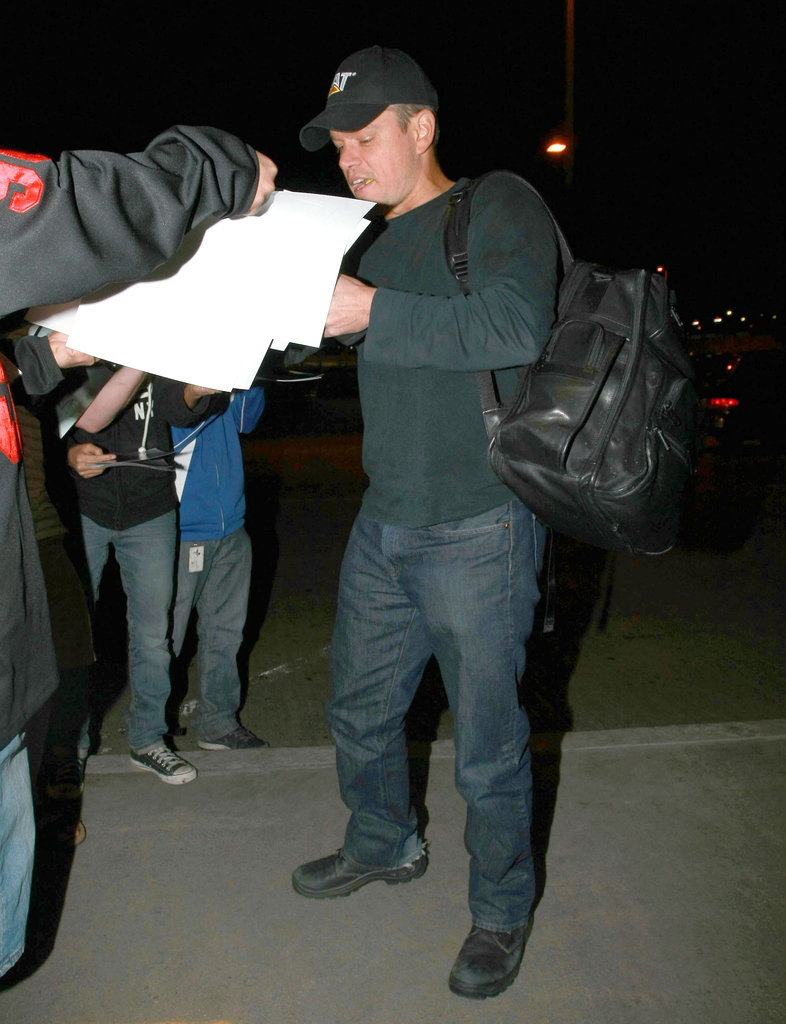Matt Damon at LAX.