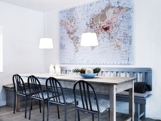 A casual dining room with a global view.