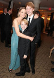 Jodie Foster holds her kids Christopher and Charlie close after the Golden Globes.