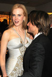 Keith Urban keeps his eyes on his wife, Nicole Kidman.