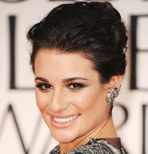 Lea Michele's 2012 Golden Globes Hair and Makeup Look