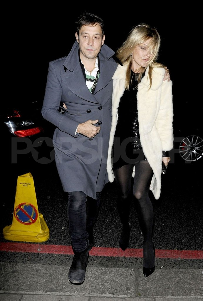 Jamie Hince escorted Kate Moss to her birthday party at China Tang restaurant.