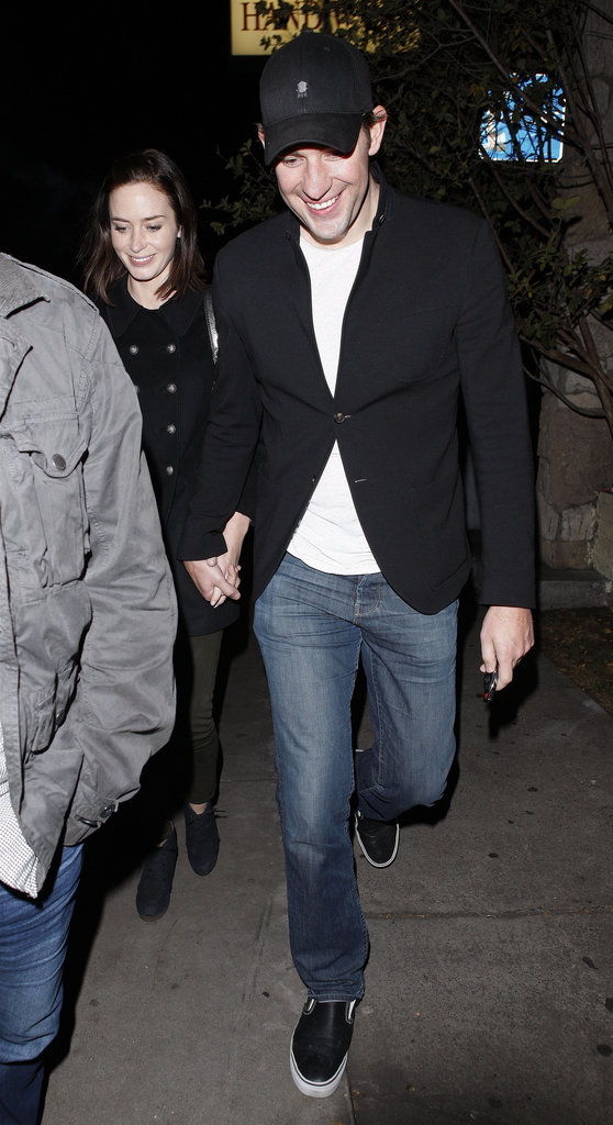 John Krasinski and Emily Blunt were hand-in-hand in LA.