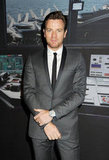 Ewan McGregor wore a tux at the SIHH High Jewelry Fair in Geneva.