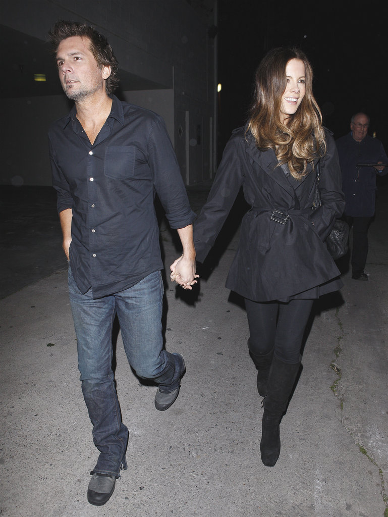 Kate Beckinsale was all smiles in LA with Len Wiseman.