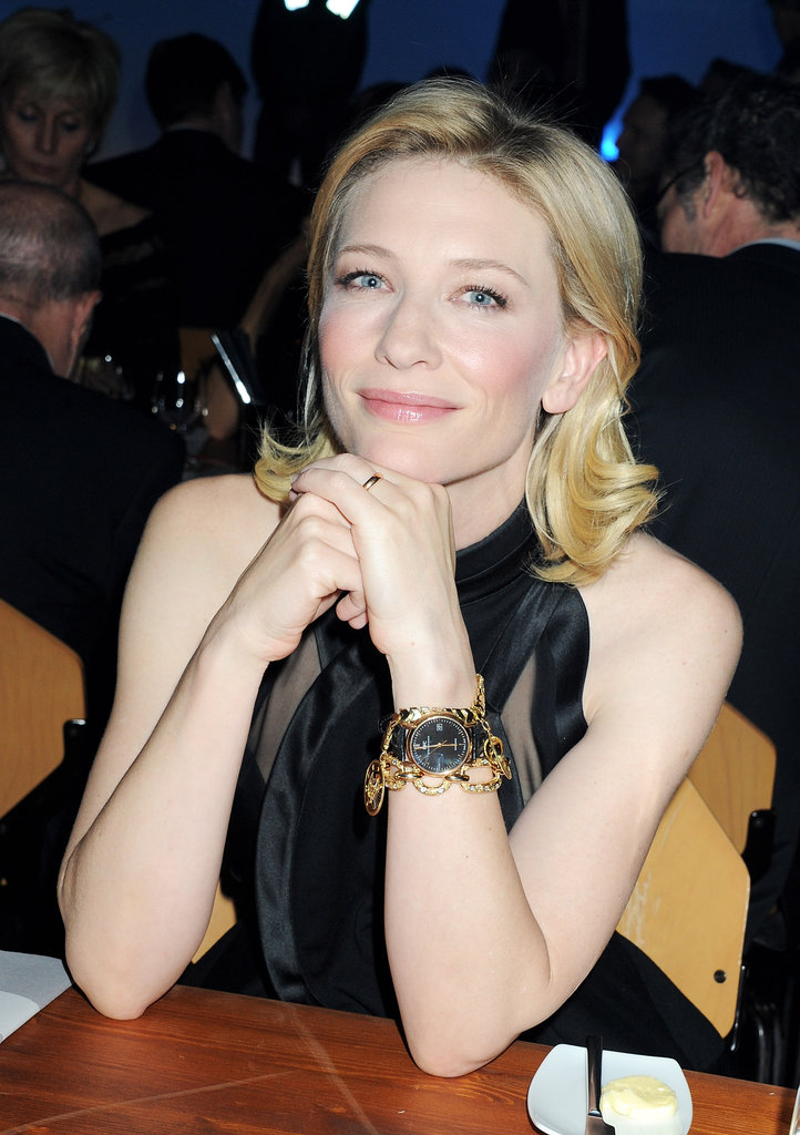 Cate Blanchett hung out at the SIHH High Jewelry Fair in Geneva.