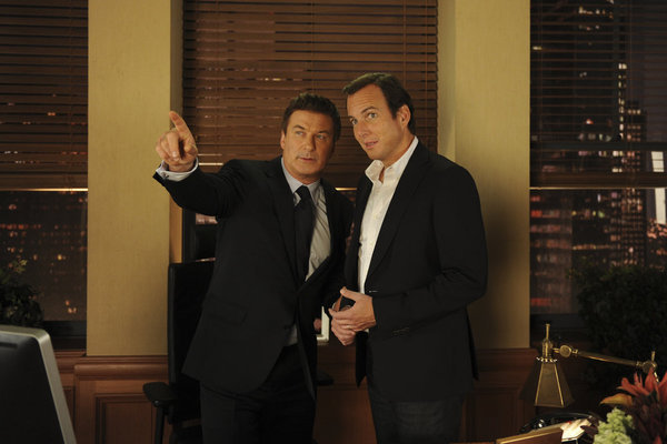 Jack Donaghy and Devin Banks could only be up to no good.  Photo courtesy of NBC