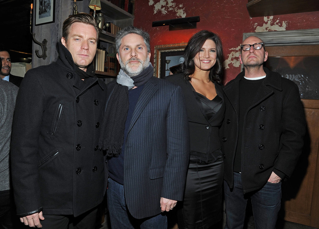 Ewan McGregor, Gregory Jacobs, Gina Carano, and Steven Soderbergh watched Haywire together in NYC.