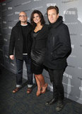 Ewan McGregor met up with Gina Carano and Steven Soderbergh at the NYC premiere of Haywire.
