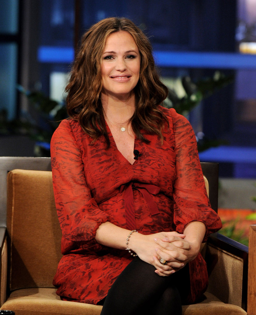 Jennifer Garner smiled for a TV appearance.