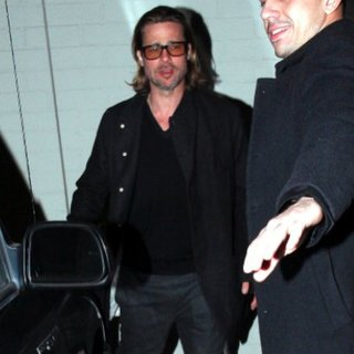 Brad Pitt Mastro's Steakhouse Pictures at Dinner