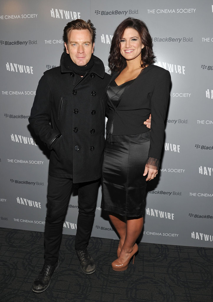 Ewan McGregor and Gina Carano were side-by-side for the NYC premiere of Haywire.