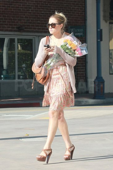 Lauren Conrad wore brown platform sandals.