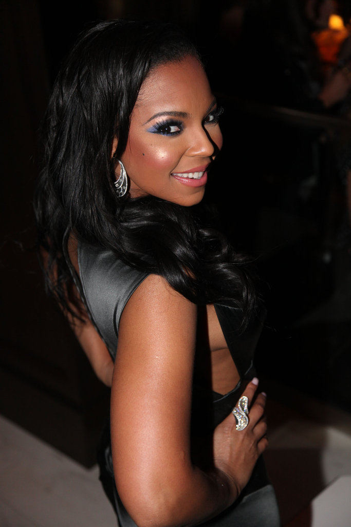 Ashanti partied at 40/40 in NYC.