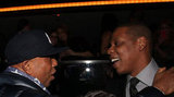 Russell Simmons and Jay-Z chatted it up in NYC.