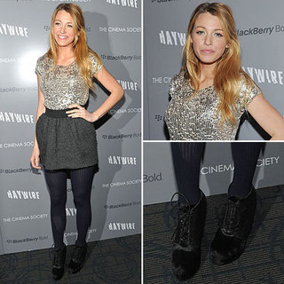 Blake Lively Wearing Dolce & Gabbana January 2012