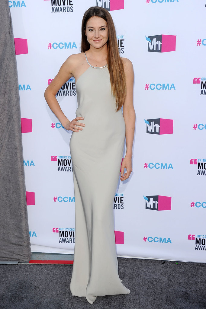 Shailene Woodley channeled a sultry vibe in a slinky Calvin Klein at the Critics' Choice Awards.