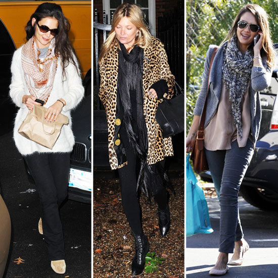 Celebrity Accessory Report: Winter-Luxe Scarves