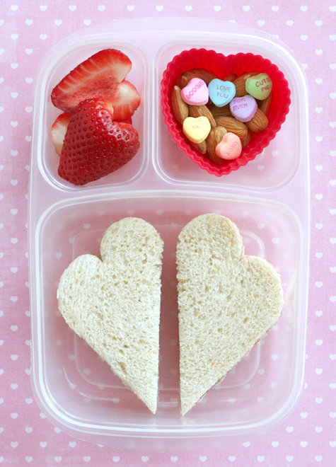 Heart-Shaped Sandwich: Valentine's Day Lunch Ideas