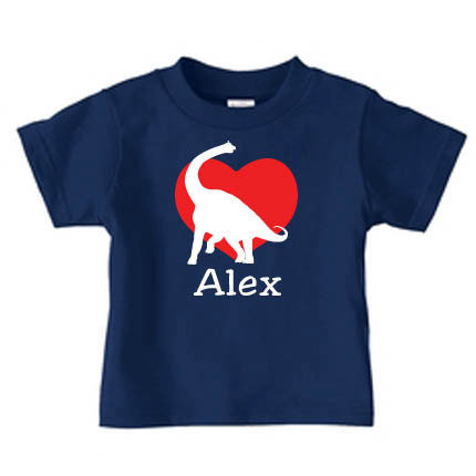 Personalized Valentine's Day Dinosaur T-Shirt ($17)