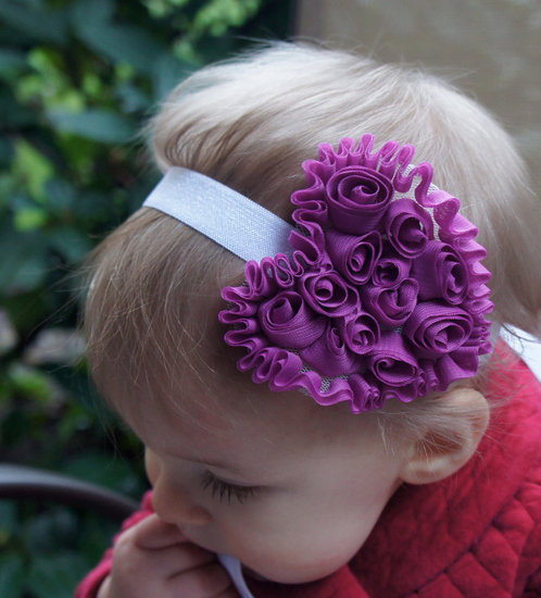 Valentine&#039;s Day Purple Heart Headband ($9)