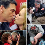 Kiss Rick Perry Goodbye: See Smooches During GOP Presidential Race