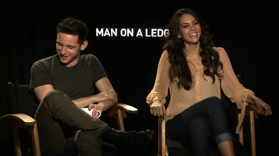 Video: Jamie Bell and Genesis Rodriguez Laugh, Joke, and Talk Stripping Down For Man on a Ledge