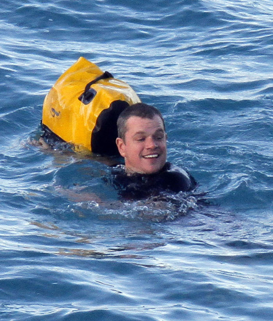 Matt Damon couldn't stop smiling.