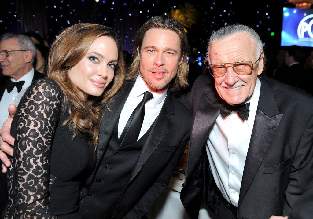 Angelina, Brad, and Stan