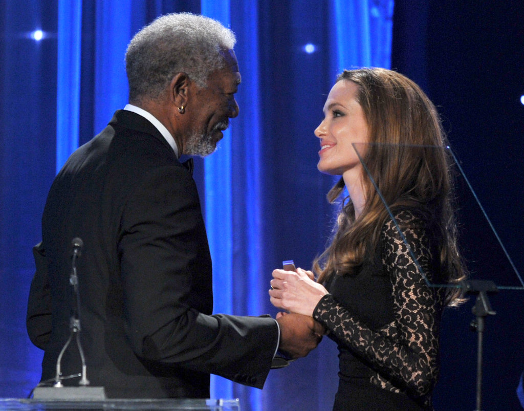 Morgan Freeman and Angelina Jolie