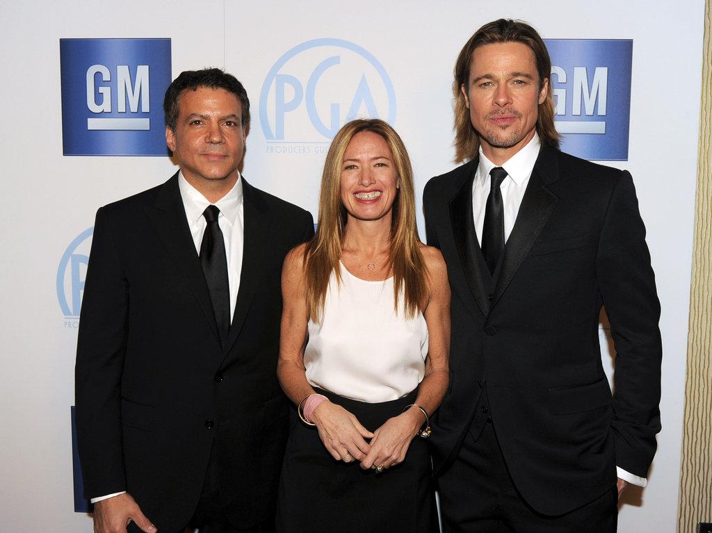 Brad Pitt, Michael De Luca, and Rachael Horovitz