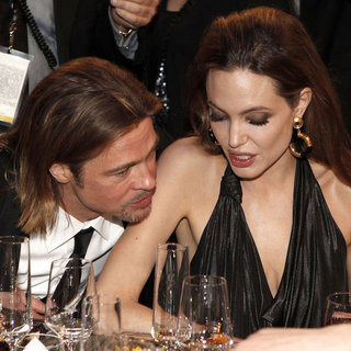 Angelina Jolie and Brad Pitt PDA Pictures at 2012 SAG Awards
