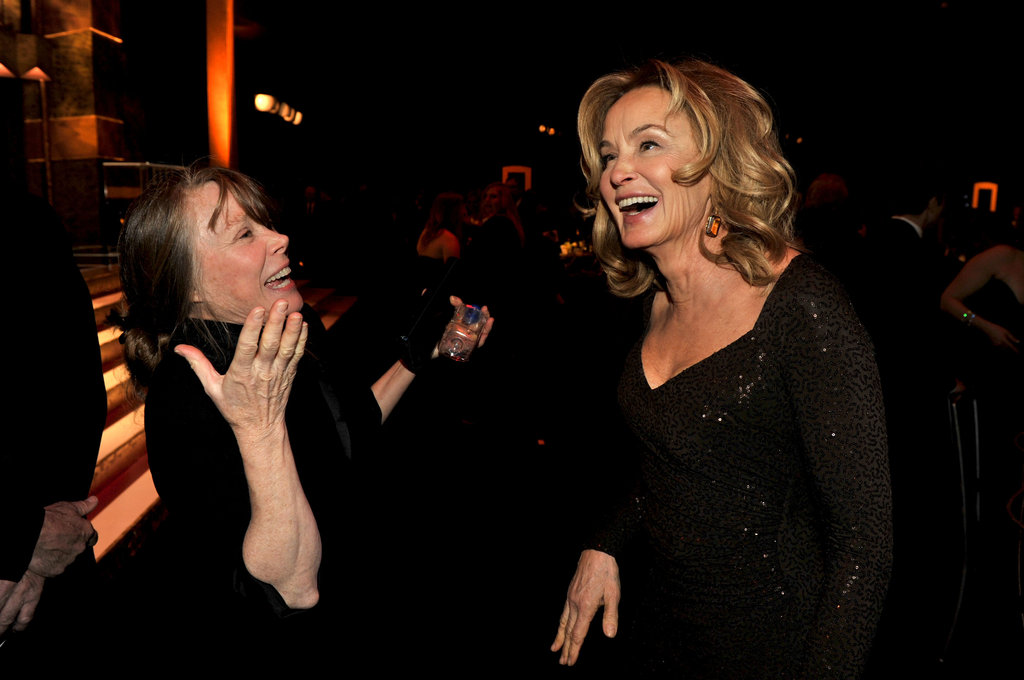 Sissy Spacek and Jessica Lange at the SAGs.