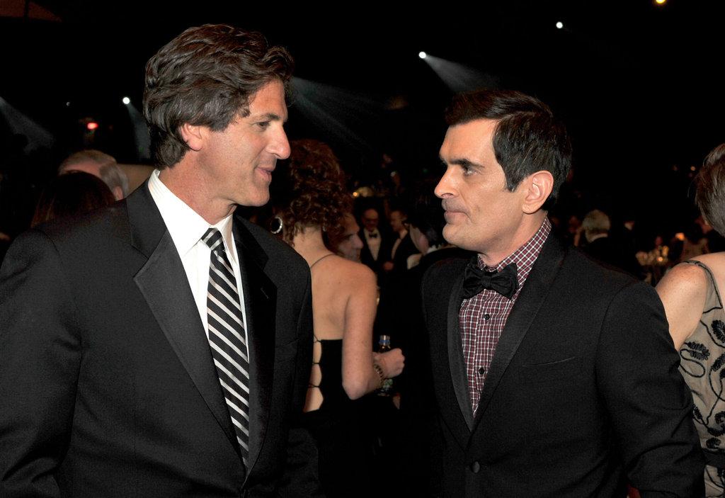 Ty Burrell chatted with a friend.