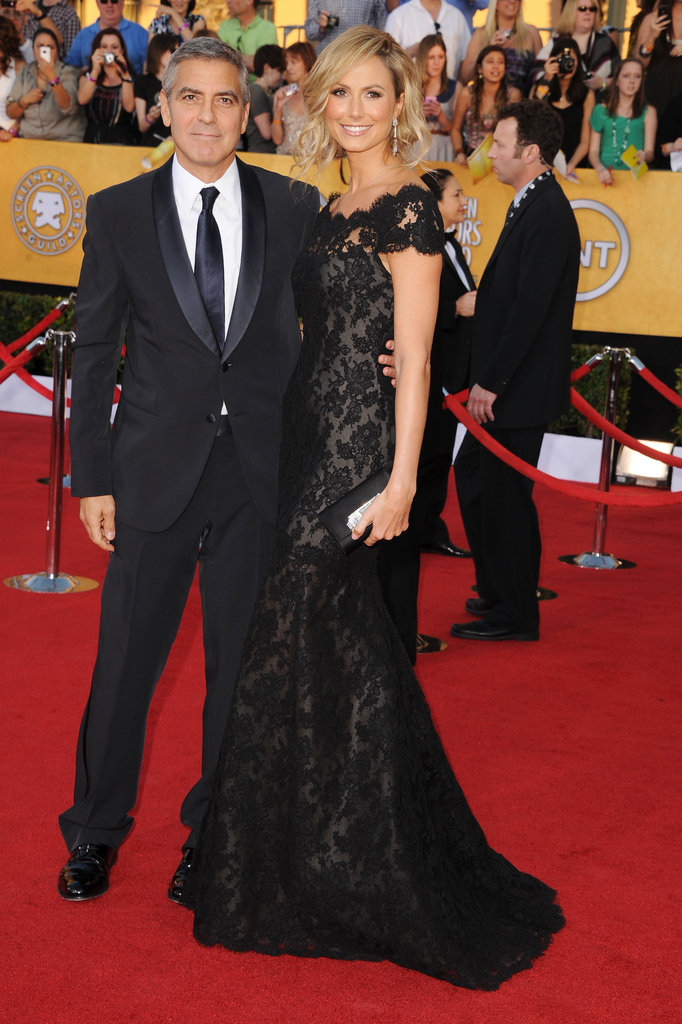 George Clooney and Stacy Keibler attended the SAGs.