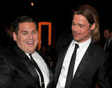 Moneyball's Brad Pitt and Jonah Hill.